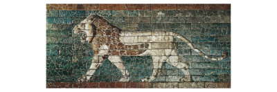 Lion Representing Ishtar, Frieze from the Processional Way Leading to the Great Temple at Babylon Prints