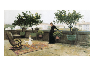 The Terrace reproduction procédé giclée