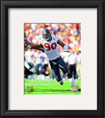 Mario Williams 2010 Action Framed Photographic Print
