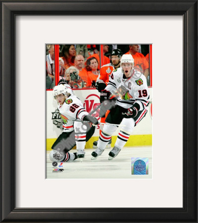 Patrick Kane & Jonathan Toews 2009-10 NHL Stanley Cup Finals Game 3 Framed Photographic Print