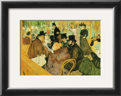 Toulouse Lautrec Moulin Rouge. Le Moulin Rouge Framed Art