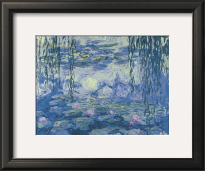 Water Lilies and Willow Branches Art by Claude Monet