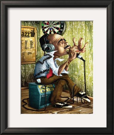 Bluesman Harmonica Posters by Adam Perez