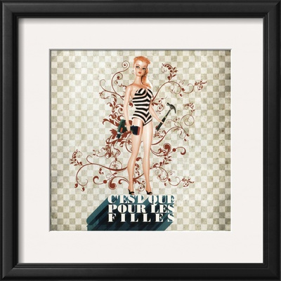 C'Est Que Pour les Filles (Only for Girls) Prints by Florence Weiser