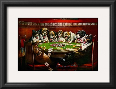 Poker Sympathy Art by Cassius Marcellus Coolidge
