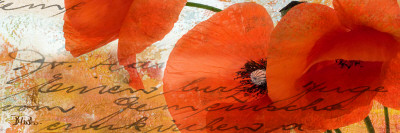 Poppies Composition III Posters by Patricia Quintero-Pinto