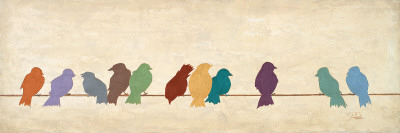 Fågelmöte Posters av Patricia Quintero-Pinto