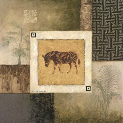 Zebra Woodcut Prints by Michael Marcon