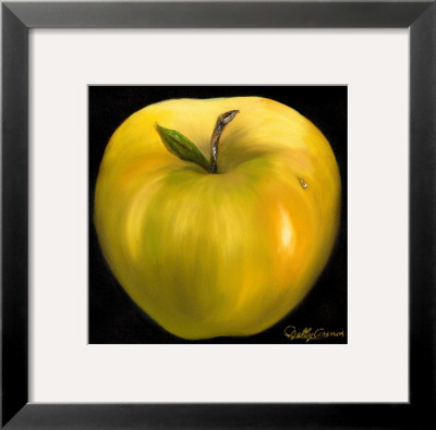 Yellow Apple Prints by Nelly Arenas