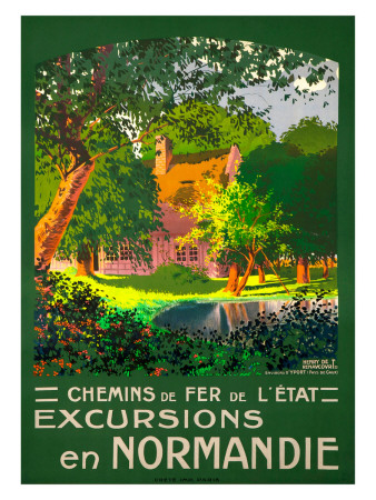 Excursions en Normandie reproduction procédé giclée