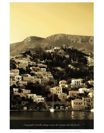 Every Perfect Traveller Always Creates the Country Where He Travels Prints by Graham Rhodes