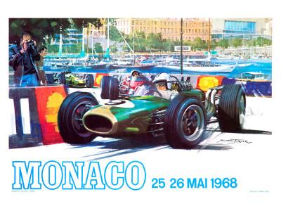 Monaco 1968 Giclée-Druck
