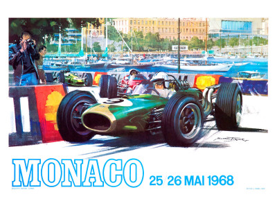 Monaco 1968 Giclee Print by  Archivea Arts
