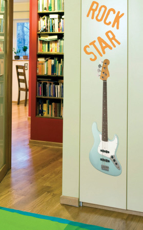 Rock Star Guitar Wall Decal