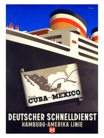 Cruise Cuba and Mexico Giclee Print