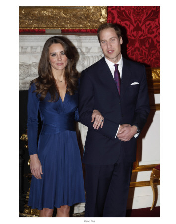 Prince William and Kate Middleton, Announcing their Engagement and Forthcoming Royal Wedding.  Plakater