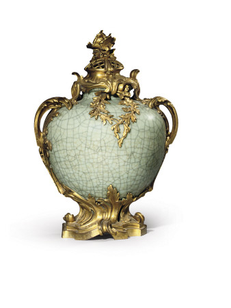 One of a Pair of Louis Xv Style Vases and Covers, Mounts Dated 1883, Porcelain Late Eighteenth Premium Giclee Print by Henri Dasson
