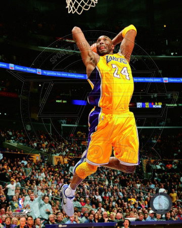 Kobe Bryant dunking during the 2010-2011 season sports basketball photo poster