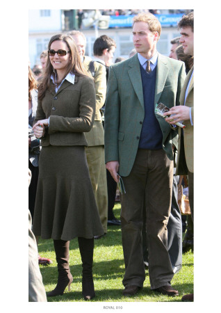 Prince William and Kate Middleton at Cheltenham Giclée-tryk