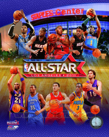 2010-11 NBA All-Star Game Matchup Composite Photo