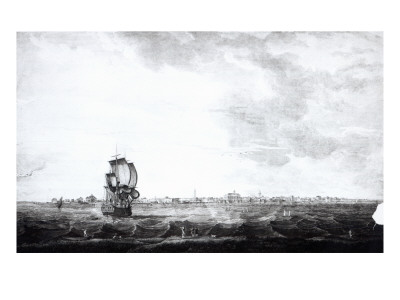 A View of Charles-Town, the Capital of South Carolina, Engraved by Samuel Smith, 1776 Premium Giclee Print by Thomas Seitch
