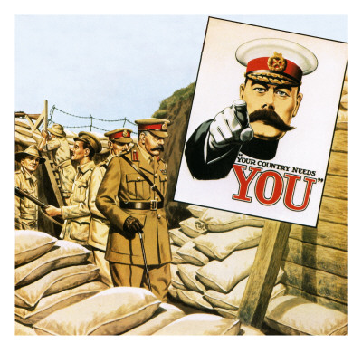 Lord Kitchener Inspecting Australian Positions During the Gallipoli Campaign Giclee Print