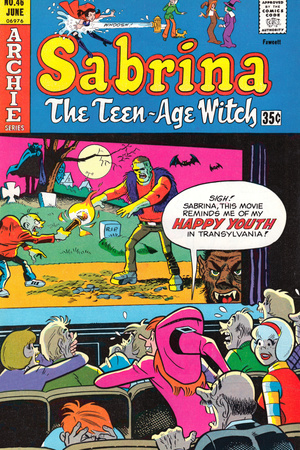 Archie Comics Retro: Sabrina The Teenage Witch Comic Book Cover No.46 (Aged) Reproduction d'art