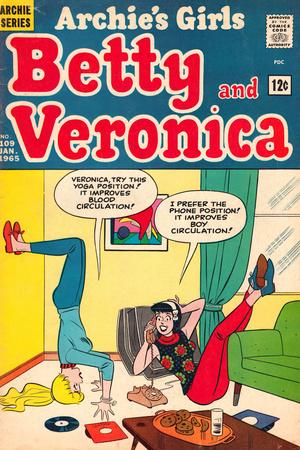 Archie Comics Retro: Betty and Veronica Comic Book Cover No.109 (Aged) Print
