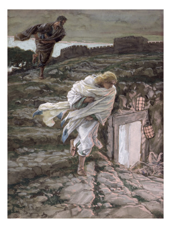 St. Peter and St. John Run to the Tomb, Illustration for 'The Life of Christ', C.1886-94 Premium Giclee Print by James Tissot