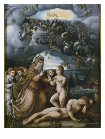 Triptych of the Creation, Creation of Eve, Central Panel Premium Giclee Print by  German School