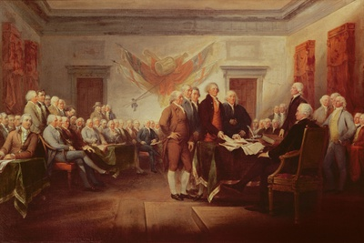 Signing the Declaration of Independence, 4th July 1776, C.1817 Premium Giclee Print by John Trumbull