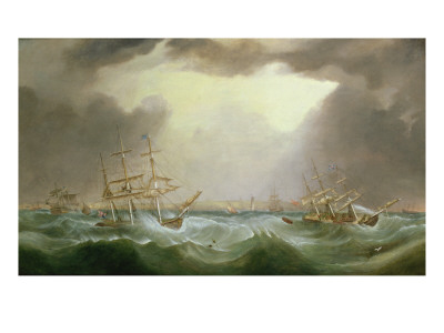 The Great Gale of 6th and 7th January 1839, 1882 Premium Giclee Print by Samuel Walters