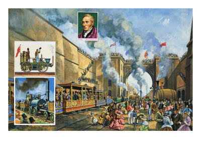 The Opening of the Liverpool and Manchester Railway on 15th September 1830 Premium Giclee Print by  Green
