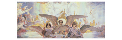 Central Panel from the Threshold of Paradise, 1885-96 Giclee Print by Victor Mikhailovich Vasnetsov