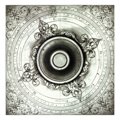 Brass Wind Compass, by Jacobus Lusuerg, Rome, 1687 Giclee Print