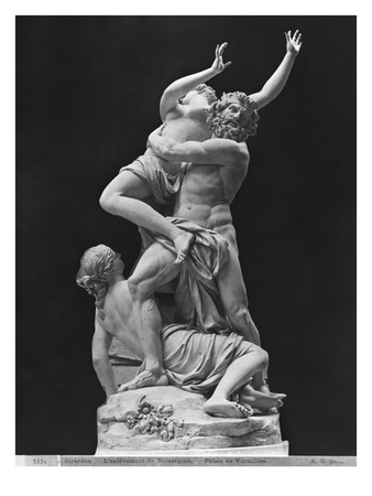 Rape of Proserpina by Pluto While One of Her Companions Holds Her Back, 1699 Giclee Print by Francois Girardon