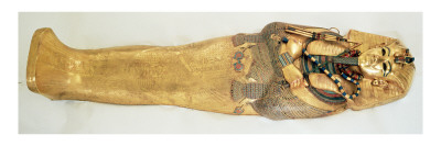 The Innermost Coffin of the King, from the Tomb of Tutankhamun Giclee Print by  Egyptian 18th Dynasty