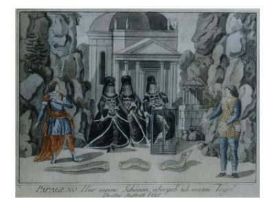 Scene from 'The Magic Flute' by Wolfgang Amadeus Mozart Premium Giclee Print by  German School