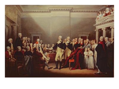 The Resignation of George Washington on 23rd December 1783, C.1822 Premium Giclee Print by John Trumbull