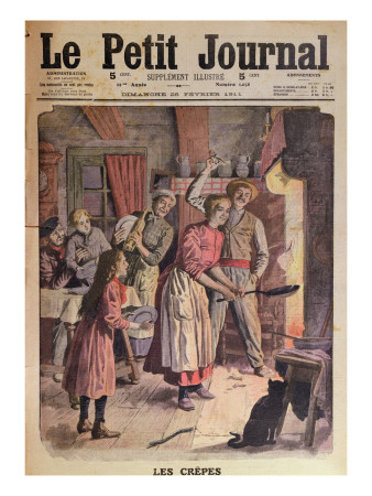 Making Pancakes, Illustration from 'Le Petit Journal', 26th February 1911 Premium Giclee Print by  English School