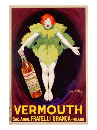 Poster Advertising 'Fratelli Branca' Vermouth, 1922 Premium Giclee Print by Jean D'Ylen