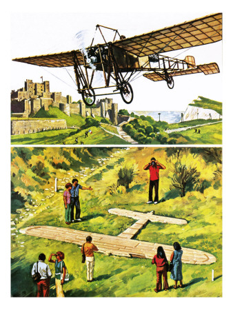 Memorial to Louis Bleriot's Flight across the Channel in 1909 Premium Giclee Print by  Green
