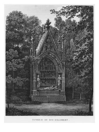 Tomb of King Dagobert, Musee Des Monuments Francais, Paris Giclee Print by Jean Lubin Vauzelle