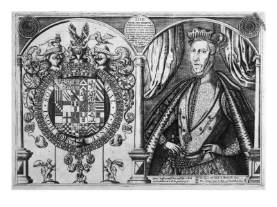 Thomas Howard, 4th Duke of Norfolk and His Coat of Arms, 1616 Giclee Print