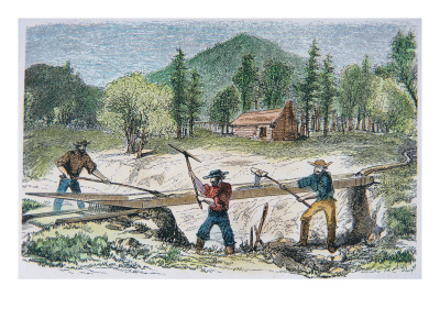 gold rush california for kids. Gold Rush of 1849 Giclee