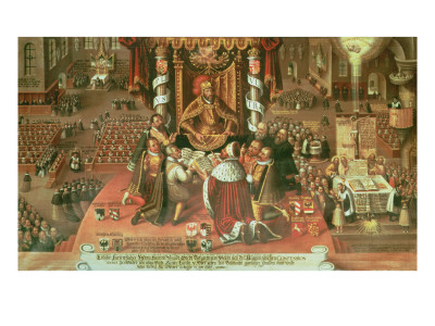 The Delivery of the Augsburg Confession, 25th June 1530, 1617 Premium Giclee Print by  German School