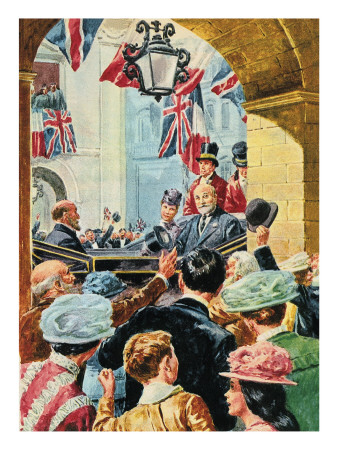 Edward Vii -- Edward the Peacemaker. Seen Here Riding Through Paris in 1903. Giclee Print