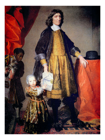 Portrait of Cecilius Calvert with His Grandson and Houseboy Premium Giclee Print by Gerard Soest