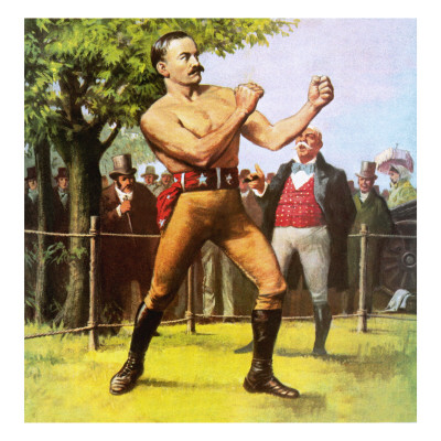 King of the Bare-Knuckle Boxers: John L Sullivan Giclee Print by Ralph Bruce