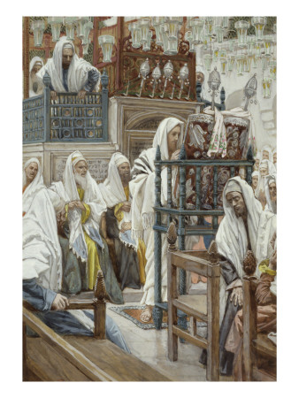 Jesus Unrolls the Book in the Synagogue, Illustration for 'The Life of Christ', C.1886-96 Premium Giclee Print by James Tissot